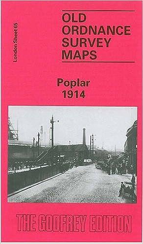 Old Ordnance Survey Maps Poplar near Stepney London 1914  Godfrey Edition New