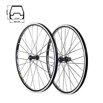 "MV-TEK Juego de Ruedas de Bicicleta 26"" Aluminio TUBELESS XC Negras Para Freno"