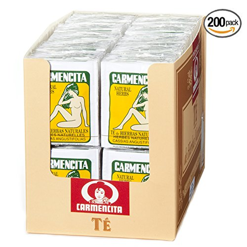 Carmencita Natural Herbs Tea. Pack of 200 individual tea bags. by Carmencita