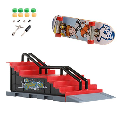 NNDA CO Skate Park Ramp Parts A-F for Tech Deck Fingerboard Finger Board Ultimate Parks (1set/6pcs) by NNDA CO (Image #8)