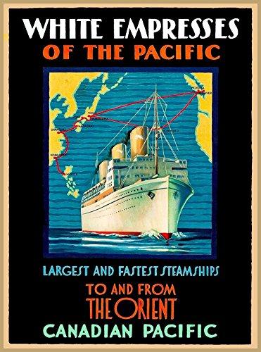 MAGNET White Empresses Canadian Pacific Vintage Travel Canada Oceanliner Magnet Print