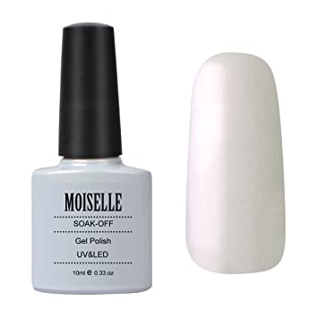 Moiselle 10ml Vernis à Ongles Gel Semi Permanent UV LED Nail Art Blanc Nacré  40528