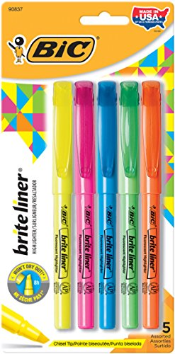 BIC Highlighter Chisel Assorted Colors