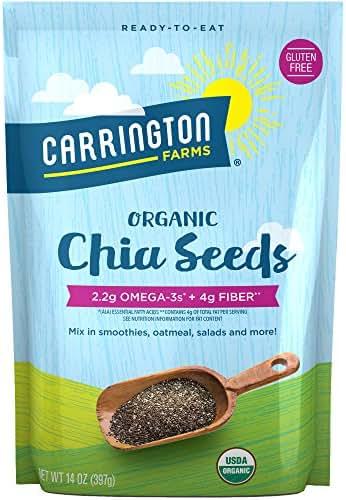 Carrington Farms Organic Chia Seeds, Gluten Free, USDA Organic, 14 Ounce