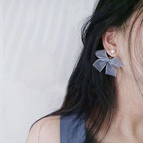 - Fairy jewelry box Sauvignon Blanc minimalist geometric handmade silver bow earrings lovely fresh girl