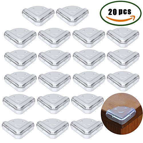 Anpatio 20Pcs Baby Safety Table Edge Guard Protector Anti-Collision Thick Soft Impact Rubber Cle ...