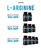 Extra Strength L Arginine - 1200mg Nitric Oxide Supplement for Muscle Growth, Vascularity & Energy - Powerful NO Booster With L-Citrulline & Essential Amino Acids To Train Longer & Harder