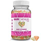 HAIR CHEWIES - All Natural Ingredients & Natural Hair Style Growth Vitamins, All Hair Types, Men & Women | GMO & Sugar Free Gummy Bears. Vegetarian With Biotin - Thicker, Fuller, Longer, Shinier Hair