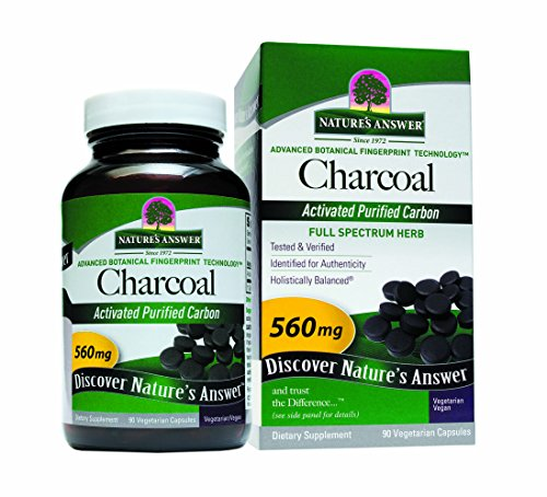 - Nature's Answer Activated Charcoal Vegetarian Capsules, 90-Count