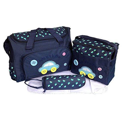 calistous 4pcs bebé pañales bolsa multifunción maternidad mamá y bebé juego de mama bolsa de almacenamiento azul oscuro