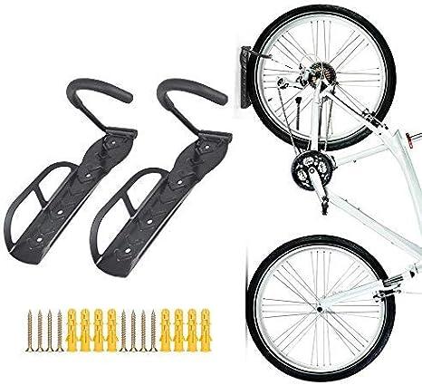 Soporte de pared para bicicletas, colgador con tornillos, 2 piezas, de Teraysun: Amazon.es: Deportes y aire libre