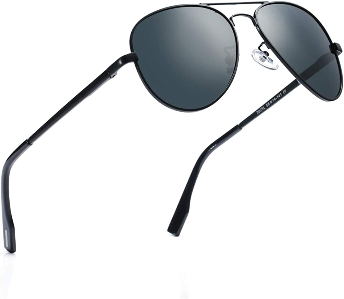 Polarized Aviator Sunglasses for Juniors Small Face Women Men Vintage UV400 Protection Shades