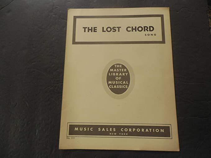 Amazon.com: The Lost Chord Song Sheet Music Master Library ...
