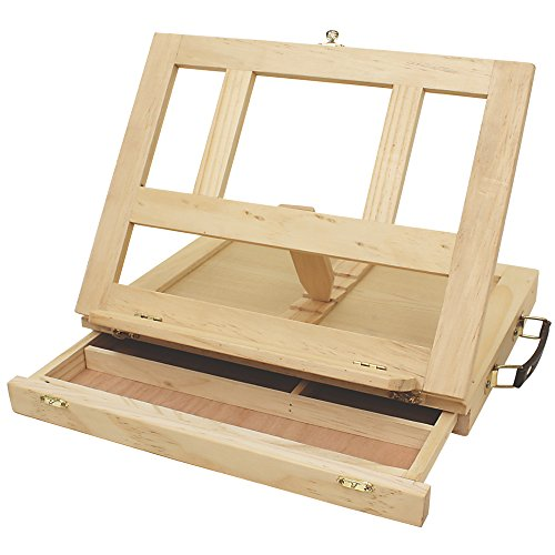 Art Alternatives Marquis Artists Adjustable Desk Box Easel, Natural (Easel Painting Canvas)