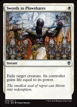 Magic: the Gathering - Swords to Plowshares (078/351) - Commander 2016