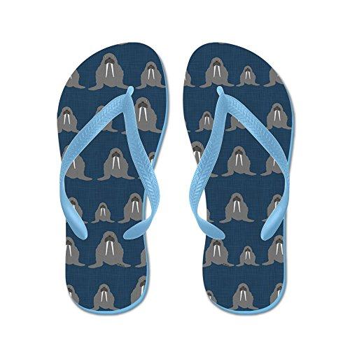 Cafepress Walrus - Flip Flops, Grappige String Sandalen, Strand Sandalen Caribbean Blue