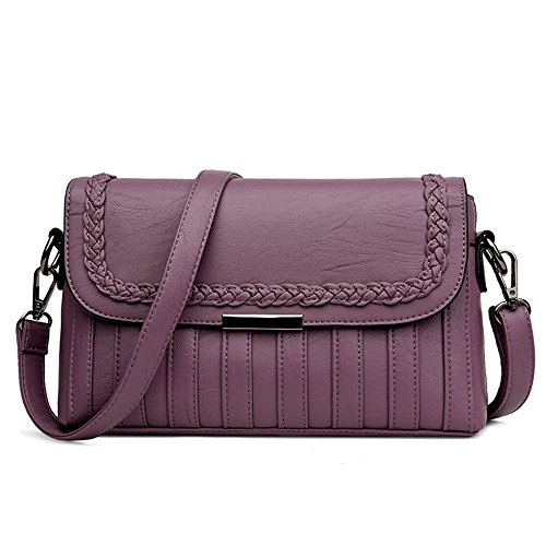 New Meaeo Fashion Laptop Purple Bag Messenger Red Shoulder zBqBTpwd