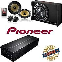Pioneer TS-SWX2502 10 inch Shallow-Mount Pre-Loaded Enclosure W/ 400W 4-Channel GM Digital Series Class FD Amplifier/ Pioneer 6 3/4 Component Speaker Package