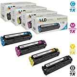 LD Compatible Toner Cartridge Replacements for Canon 118 (Black, Cyan, Magenta, Yellow, 4-Pack)