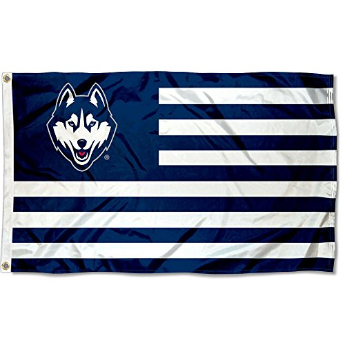Connecticut Huskies Stars and Stripes Nation Flag