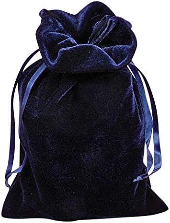 Navy Blue Velvet 6 X 9 Tarot Bag by Paper Mart