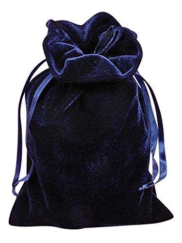Navy Blue Velvet 6 X 9 Tarot Bag by Paper -