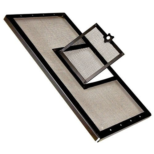 Zilla Fresh Air Terrarium Metal Screen Cover with Door (24 x 12 Inches)