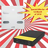 LIFECHARGE SMART SCALE WITH 13 BODY COMPOSITIONS ANALYZER + 4 Output 20,000mAh Jumbo Plus Power Pack *Special Offer*