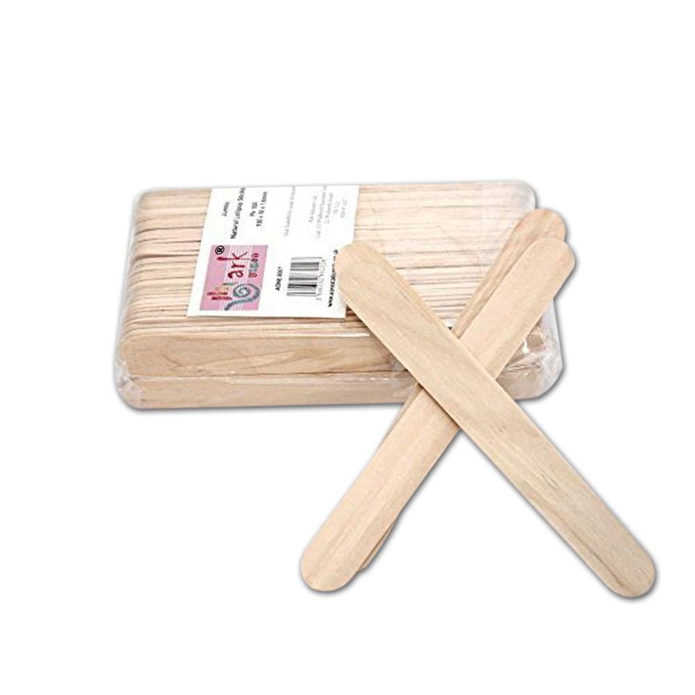 2 x 100 Jumbo Lollipop palos de madera natural: Amazon.es: Hogar