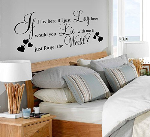 if i lay here wall decal - 3