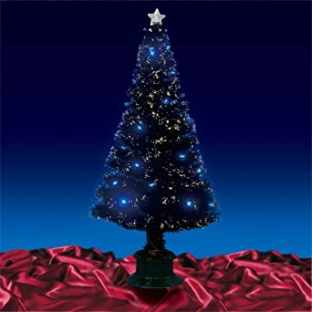 Christmas Tree Gorgeous 6ft 180cm Black Fibre Optic Leds 5ft