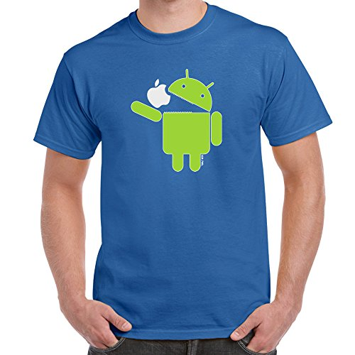 Android Eats Apple Tshirt Starlite Mens Funny Tshirts T Shirts Funny Gifts