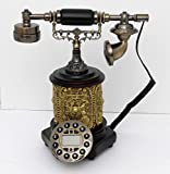 Retro style push button dial desk telephone / Home decorative # 1712