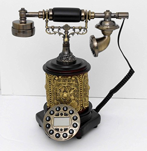 Retro style push button dial desk telephone / Home decorative # 1712 by Nabil's Gift Shop