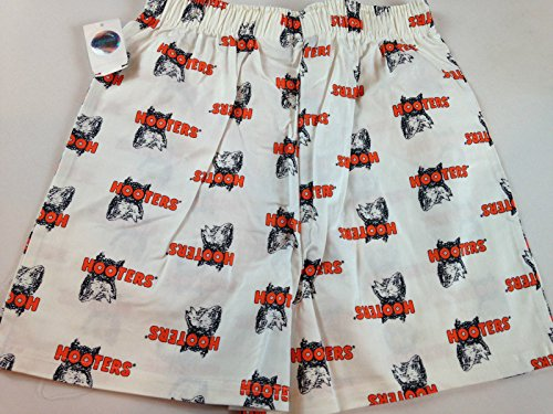 Hooters Boxer Shorts White Stretch Mens 2XL Sexy Authentic Owl Girl Boobs (Garden Boxer Shorts)