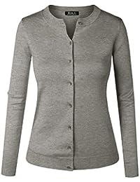 BILY Women's Unique Button Long Sleeve Soft Knit Cardigan Sweater