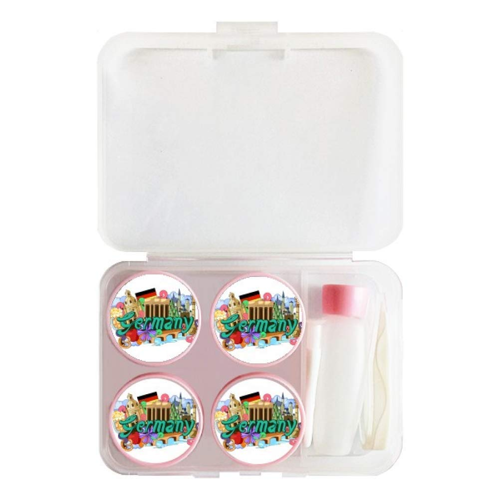 New Swan Stone Castle Beer Germany Graffiti Contact Lens Case Bulk Tweezers Container Holder