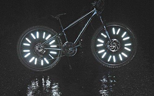 Bike Spoke Reflector Jusmar Pack of 36 - Bike Reflectors for Mountain and Road Bikes - Kids Bike Reflector - Waterproof Bicycle Spoke Reflectors by Jusmar USA (Image #6)