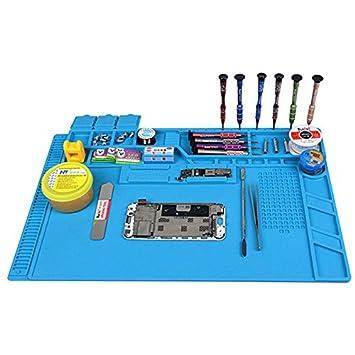Alfombrilla de soldadura Fawy, almohadilla de reparación de aislamiento térmico de silicona de 45 x 33,5 cm: Amazon.es: Bricolaje y herramientas
