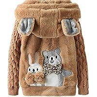 Freebily Ropa Niña Invierno Abrigo de Piel Sintética Engrosamiento Caliente Chaqueta con Capucha Abrigo para Niñas…