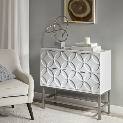 Sonata Accent Chest with 2 Drawers White See (Furniture Sonata)
