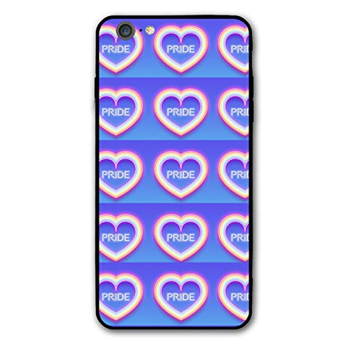 (iPhone 6 Plus Case, iPhone 6s Plus Case, Neon Glowing Rainbow Heart Shock-Absorbing Case, iPhone 6/6s Plus Case for Scratch Protection)