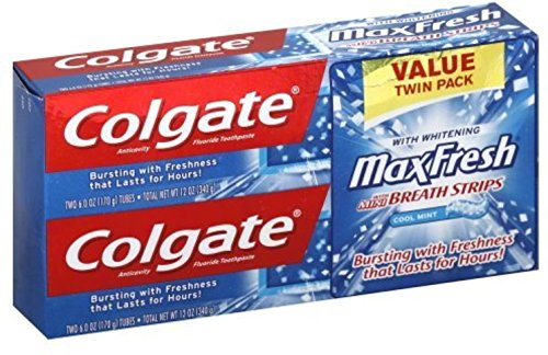 Colgate MaxFresh Fluoride Toothpaste Twin