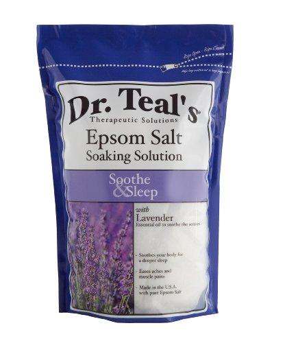 Dr. Teal's Epsom Salt Soaking Solution, Lavender, 48 Ounce, Health Care Stuffs