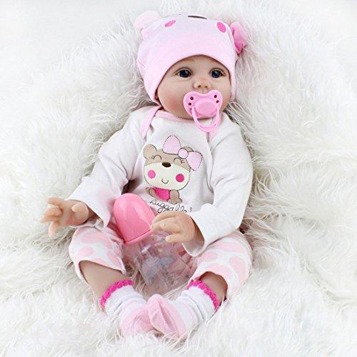 22''Handmade Lifelike Baby Girl Doll Silicone Vinyl Reborn Newborn Dolls+Clothes 22' Baby Girl