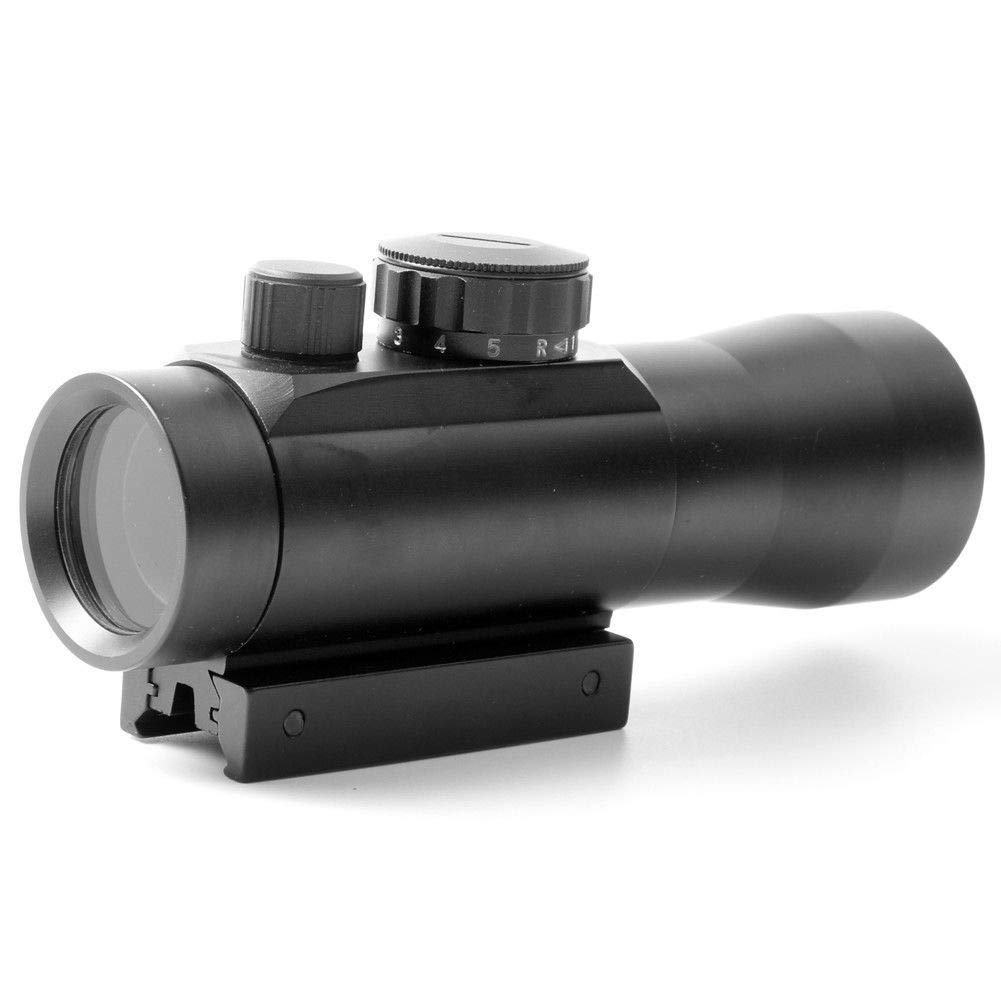 YGQersh Scope Noir Carabine Tactique de Chasse 3x42RD holographique Rouge//Vert Cross Sight Light Sight