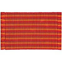 C&F Home Ribbed Fiesta Woven Area Rug, Small/2 x 3, Red