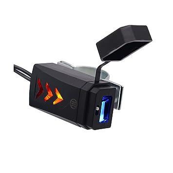 WINOMO USB coche coche moto cargador adaptador 12-24 Voltios para iPhone, iPad, Samsung, HTC, LG, Xiaomi, Blackberry y más-Negro