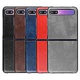 HualuBro Samsung Galaxy Z Flip Case, Retro PU
