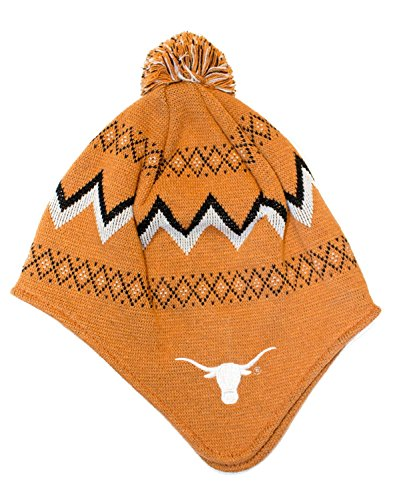 Texas Longhorns Licensed YOUTH (8-20) Pom Beanie Cap